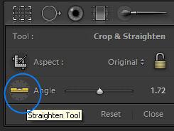 The Straighten Tool