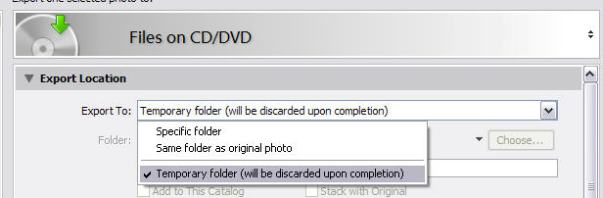 Export to CD/DVD
